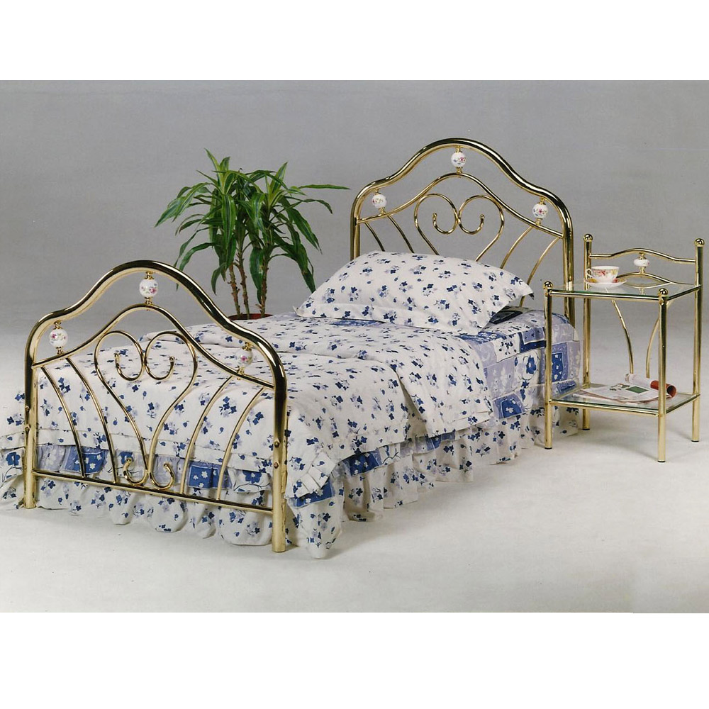 single metal bed frame, classic furniture